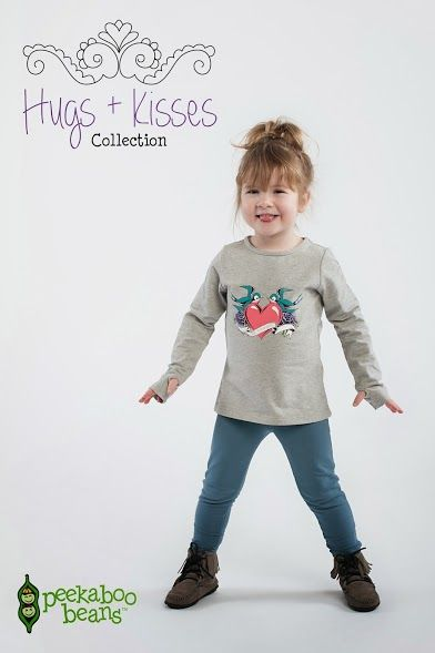 #pbhugsandkisses Peekaboo Beans winter Hugs + Kisses collection. | playwear for kids on the grow! | www.peekaboobeans.com