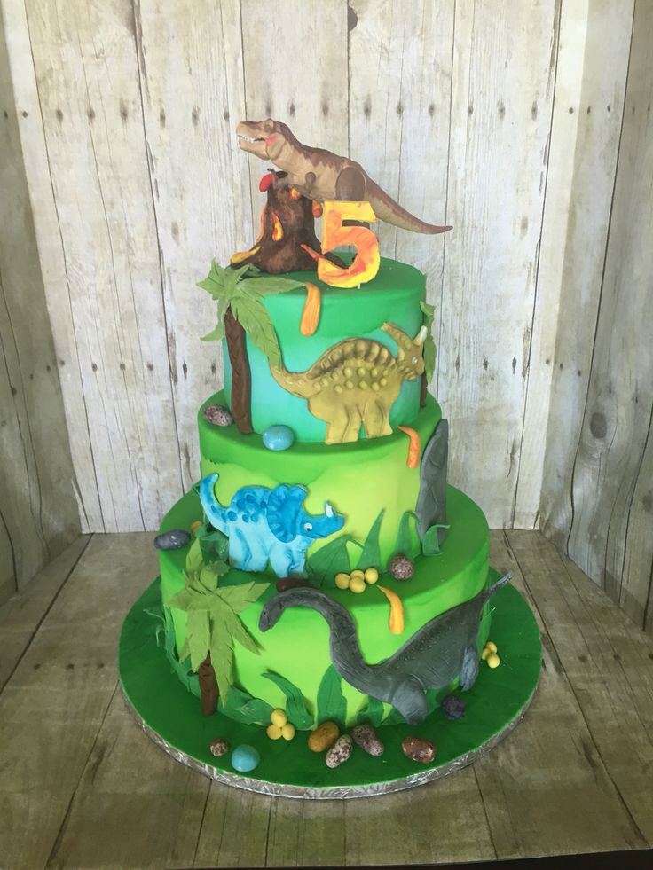 Dinosaurs Cake In 2020 Dinosaur Birthday Party Dinosaur Birthday Cakes Dinosaur Birthday