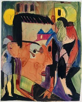 Ernst Ludwig Kirchner, Self Portrait