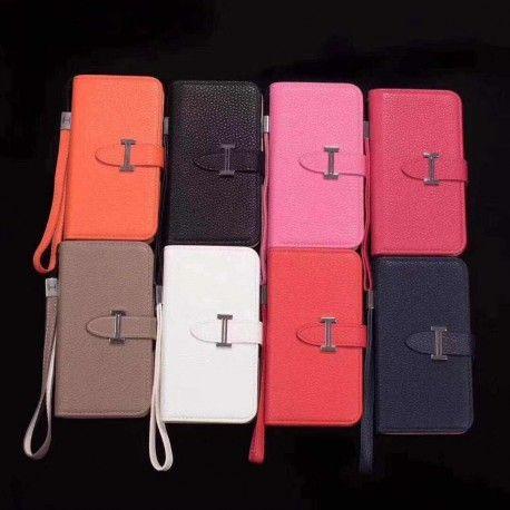 エルメスhermes iphoneX/8/7 plusケース/galaxy s8/s8 plusケース手帳型です。カード入れとストラップ付きの革製のブランドスマホケースです。