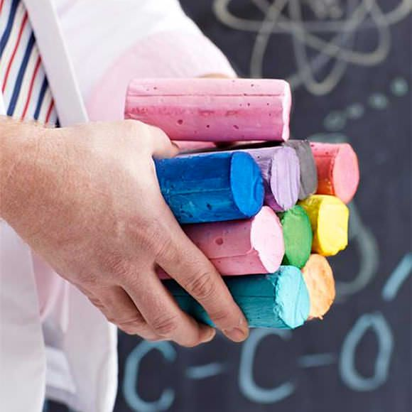 """Whip up a few of these giant, colorful sticks of """"Professor Figgy's Easy Homemade Sidewalk Chalk"""" with this craft tutorial for kids from Sweet Paul. Love!"""