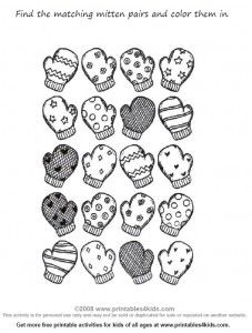 Very cute winter free printable!!! Mittens!!!!