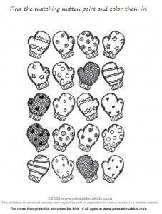 Very cute winter free printable!!! Mittens!!!!