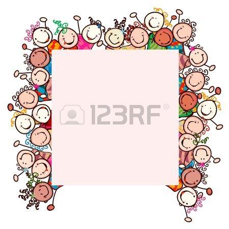 enfants heureux avec des visages souriants Banque d'images