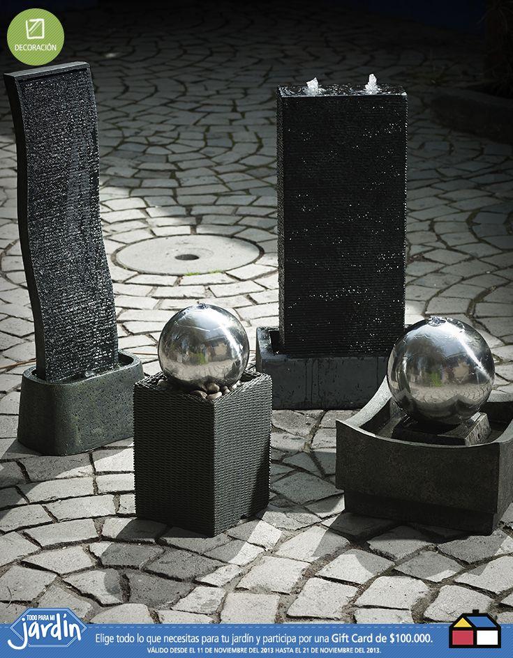 Fuentes de agua fuentes para jard n pinterest for Adornos de jardin