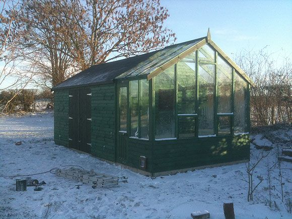 Greenhouse From A Shed Storage Shed With Greenhouse