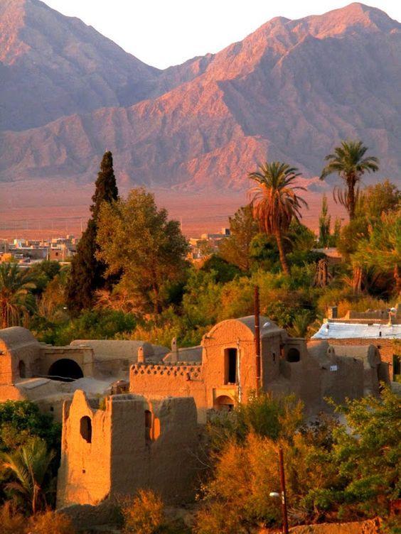 Iraj village in desert Iran, Esfahan