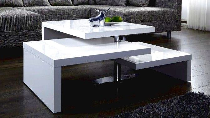 Table Basse Laquee Blanche Modulable Durban Di 2020