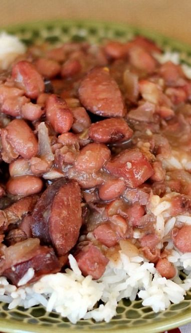 Slow Cooker Red Beans and Rice. A southern classic!