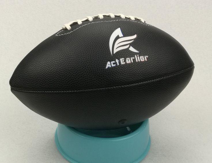 Tamanho Oficial N ° 6 Negro Cor Futebol Americano Rugby Esportes Brinquedo Bola de Rugby Para O Entretenimento Jogo de Treinamento