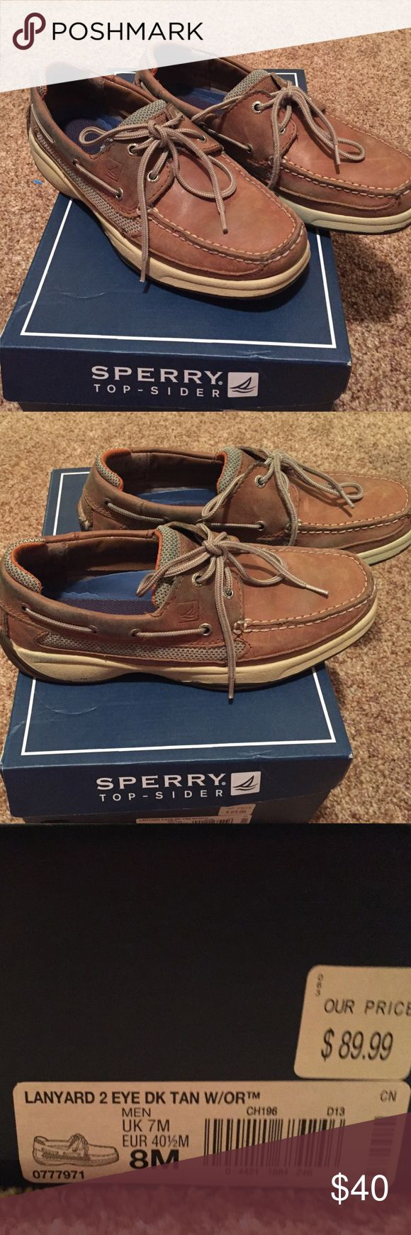 Men Sperry size 8 Dark tan Sperry Sperry Shoes Loafers & Slip-Ons
