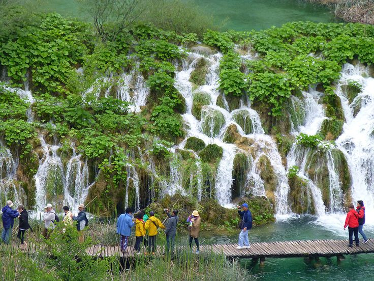 Plitvice Lakes National Park:  The oldest national park in Southeast Europe and the largest park in Croatia. The park is filled with luscious green scenery, beautiful lagoons, and amazing waterfalls.
