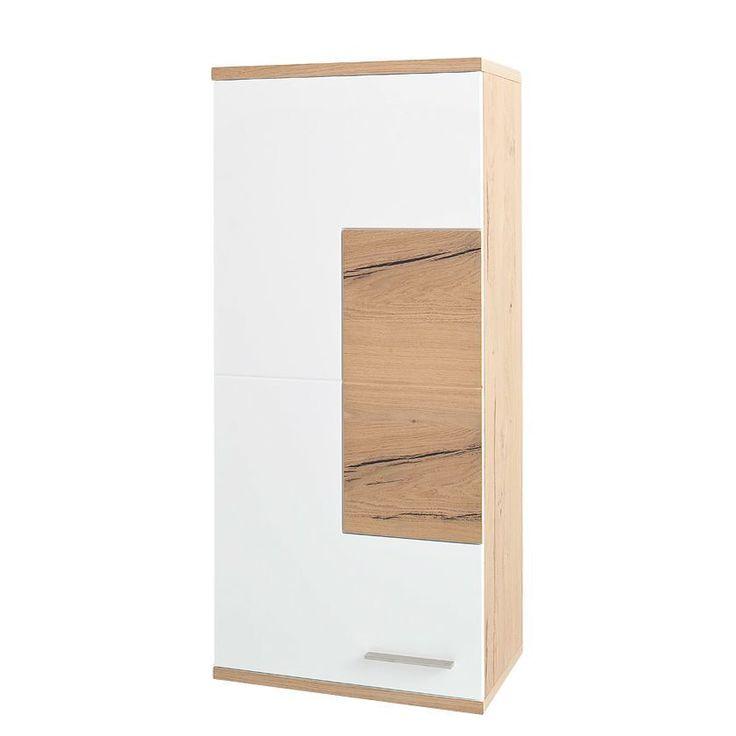 Hängeschrank Serrata - Matt Weiß   Risseiche, Fredriks Jetzt - hängeschrank wohnzimmer weiß