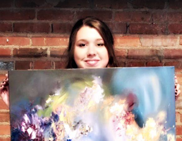 Artist Melissa McCracken is a synesthete — she can see sounds in brilliant colour, and she actually paints songs by artists like Radiohead, Bon Iver and Stevie Ray Vaughan.