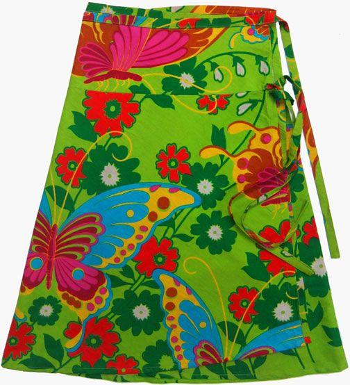 All cotton wrap a round skirt. Bold butterfly print www.marketique.com.au