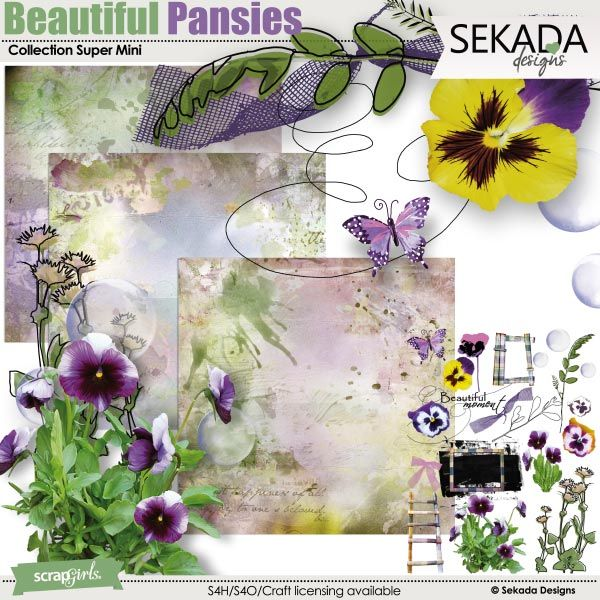 Save 40% off Beautiful Pansies Collection Super Mini