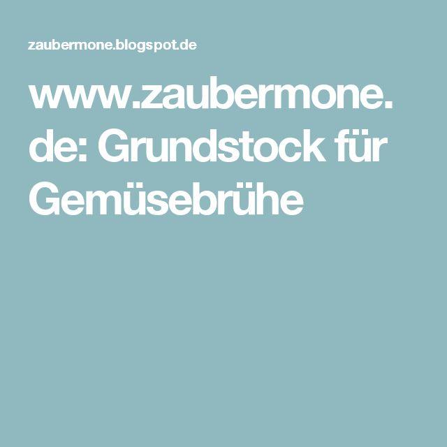 www.zaubermone.de: Grundstock für Gemüsebrühe