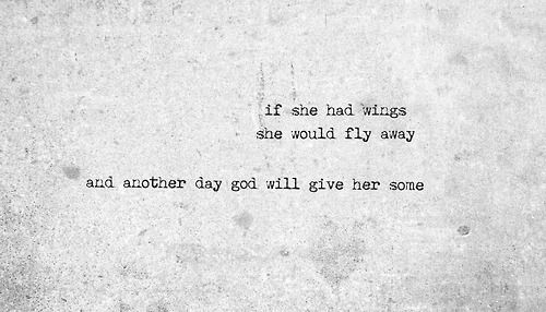 My next tattoo with wings on each side either on my inner upper arm on back ... Quote from James blunt carry you home