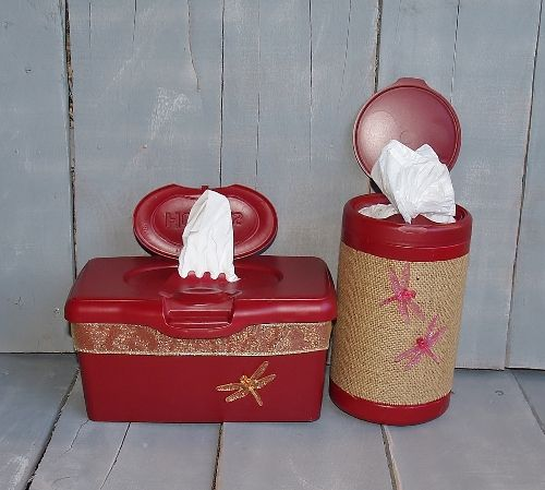 Hiney and Boogie Wipes Plastic Container Upcycle/Recycle