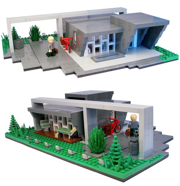 ishj house a modern home by lego artist joh wimwimm flickr i really like the bold framing and angled walls the model was inspired by a trip to