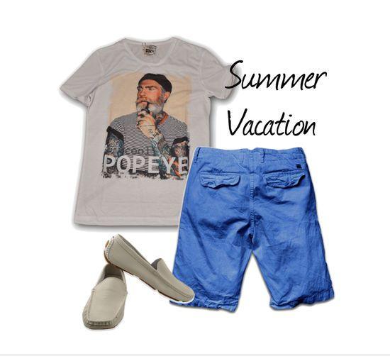 Summer Vacation Look #Millenniumshop T-shirt: https://www.millenniumshop.gr/el/products/292?color_id=1165 Βερμούδα : https://www.millenniumshop.gr/el/products/222?color_id=672 Παπούτσια :https://www.millenniumshop.gr/el/products/130?color_id=655