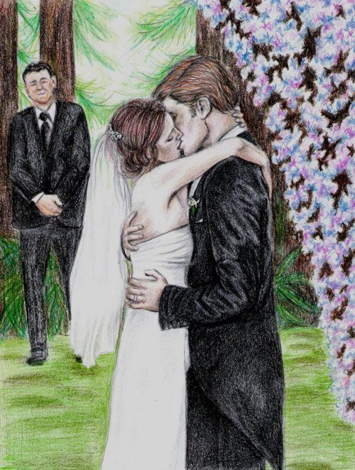 Breaking Dawn fan art : Wedding Kiss | Twilight saga,Bella Thorne, Shake it up