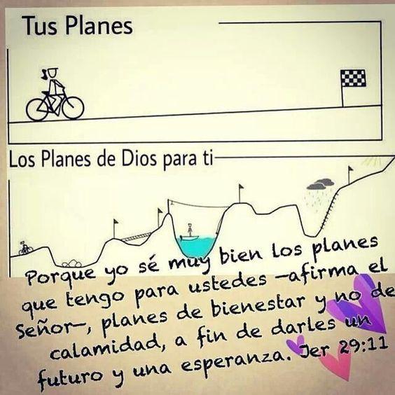 Podemos tener nuestros planes, pero Dios tiene planes diferentes.