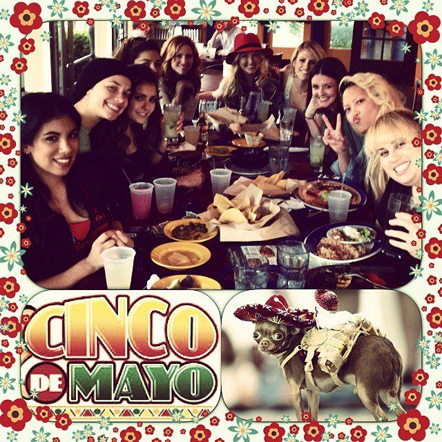 Pin for Later: Pitch Perfect 2: Check Out All the Behind-the-Scenes Fun  Don't you wish you could have celebrated Cinco de Mayo with the cast of Pitch Perfect 2? Source: Instagram user hanamaelee