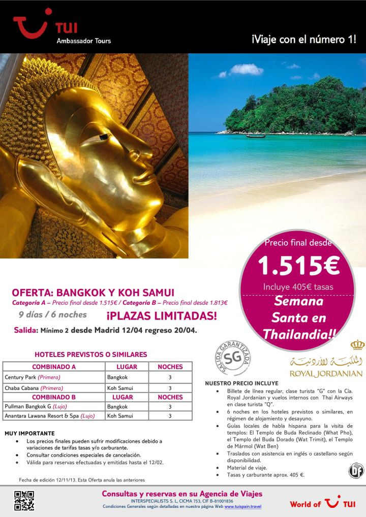 ¡Semana Santa! Oferta Bangkok y Koh Samui. Precio final desde 1.515€ ultimo minuto - http://zocotours.com/semana-santa-oferta-bangkok-y-koh-samui-precio-final-desde-1-515e-ultimo-minuto/