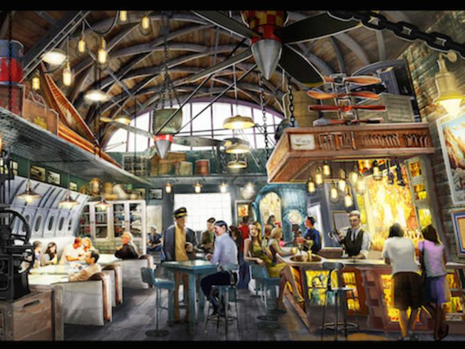 """Disney to open Indiana Jones restaurant and bar (snake-free, we hope)! Luckily, insects and monkey brains won't be on the menu at Jock Lindsey's Hangar Bar, opening this fall at Walt Disney World. """"Rolling Boulder Meatballs"""" will be, however."""