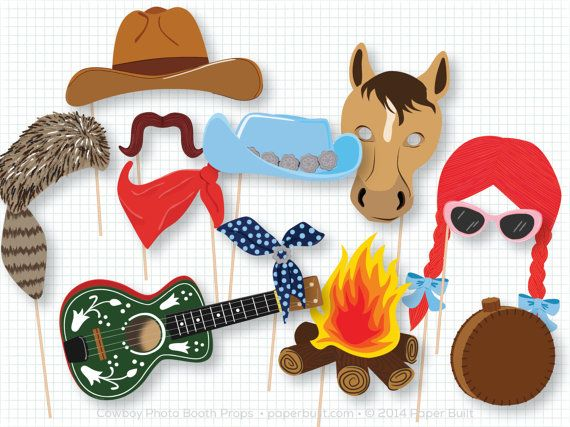 Cowboy Photo Booth Props Cowboy Birthday Cowboy by PaperBuiltShop