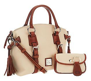 Dooney & Bourke Pebble Leather Domed Satchel w/Accessories any color but red