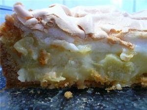 Пирог с ревенем-Rhabarberkuchen mit Baiser