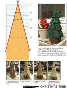 Chainsaw carving patterns free CHRISTMAS TREE 1of2.