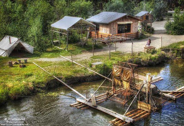 Fish wheel athabascan indian village fairbanks alaska for Fishing in fairbanks alaska
