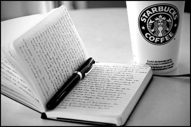 My creative outlet!: Writing A Book, Coff Alot, Writers Inside, Journals Starbucks, Book Worth, Forget Starbucksyum, Moleskine Notebooks, Memorial Drinks, Photo