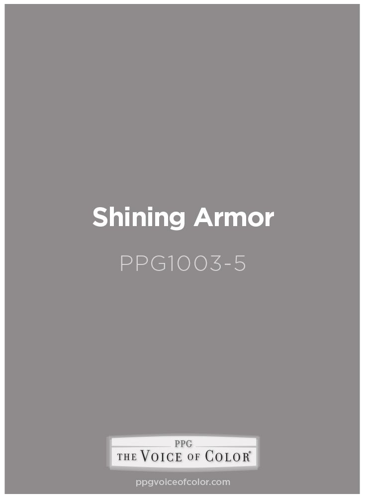 Gray Paint Color Shining Armor By Ppg Voice Of Color
