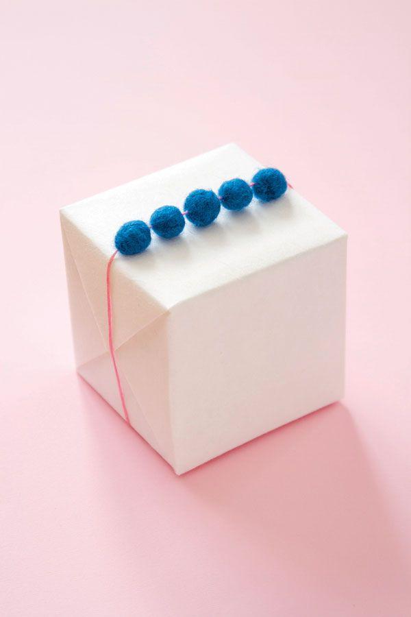 DIY Felted Ball Garland