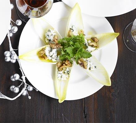 Chicory & blue cheese salad