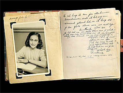 The first pages of Anne's diary. She received the diary on her 13th birthday - June 12, 1942.