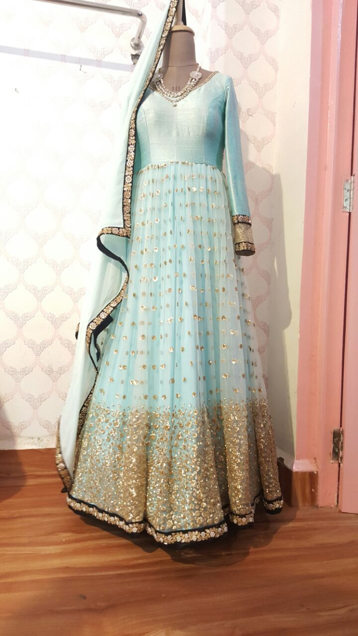 Beautiful anarkali made for you ..... For more info shally 6478990487