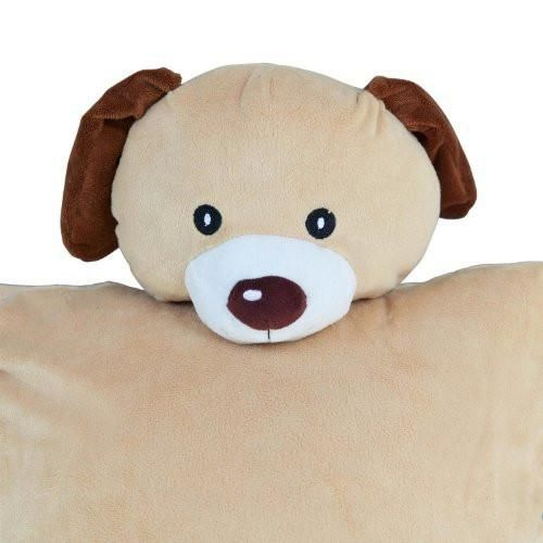 Soft pillow Cuddle Cover! This adorable dog will make your child's pillow and bed that much more fun!