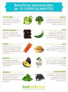 Sabemos que hay muchos ingredientes que acarrean beneficios específicos para la salud, pero tal vez no sepamos todo lo que hacen por nosotros. Por eso te presentamos diez súper alimentos y algunos de sus bienes inesperados para tu cuerpo.