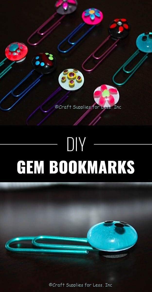 DIY Crafts Using Nail Polish - Fun, Cool, Easy and Cheap Craft Ideas for Girls, Teens, Tweens and Adults | DIY Gem Bookmarks