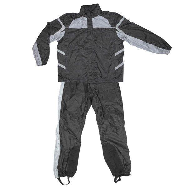 Xelement RN2695 Mens 2 Piece Gray Black Reflective stripes Motorcycle Rain Suit  #Xelement #Motorcycle