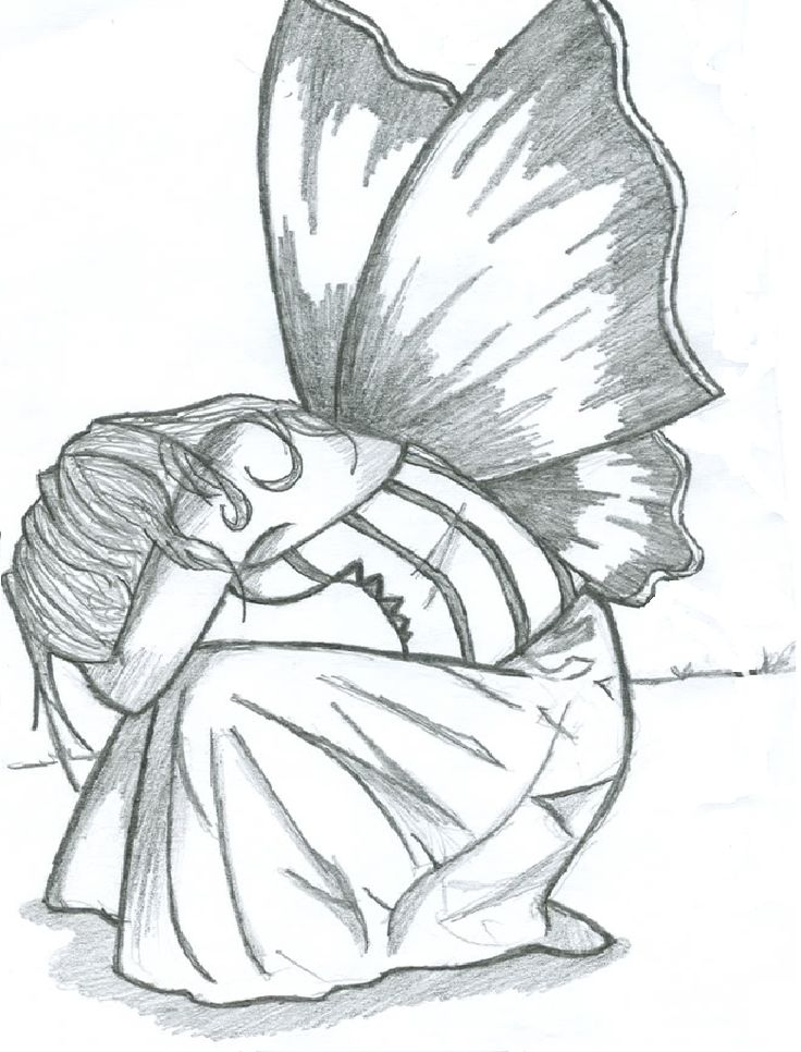 This is a photo of Superb Drawing Of Someone Crying