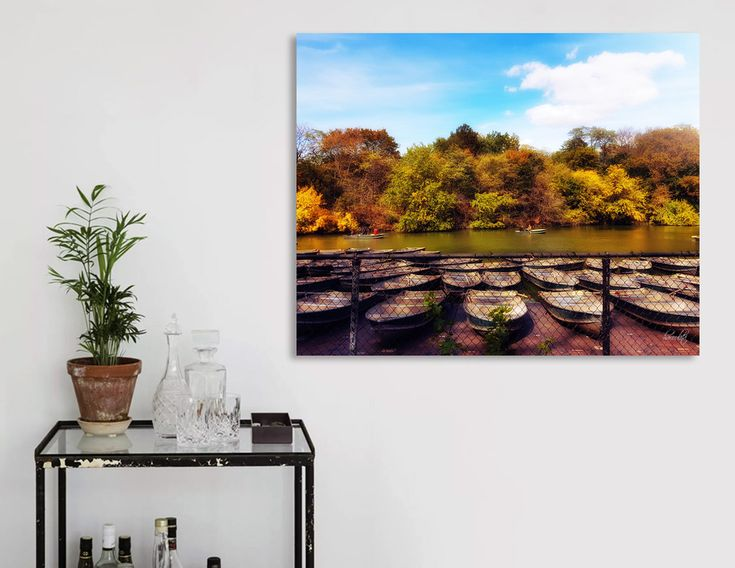 «Autumn in central park», Limited Edition Acrylic Glass Print by haroulita - From 95€ - Curioos