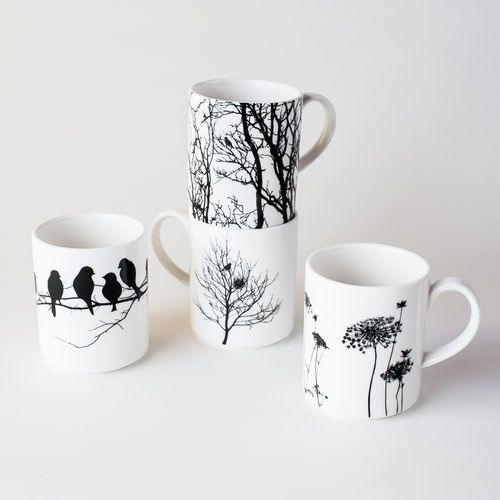 It's as if Dot and Bo is reading my mind!  Absolutely perfect! Naturescape Porcelain Mugs - Set of 4 | dotandbo.com #DotandBoSummer