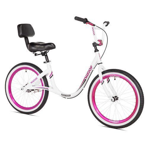 KaZAM Girls' 20 in Swoop Balance Bike White/Pink - Girl's Bikes at Academy Sports