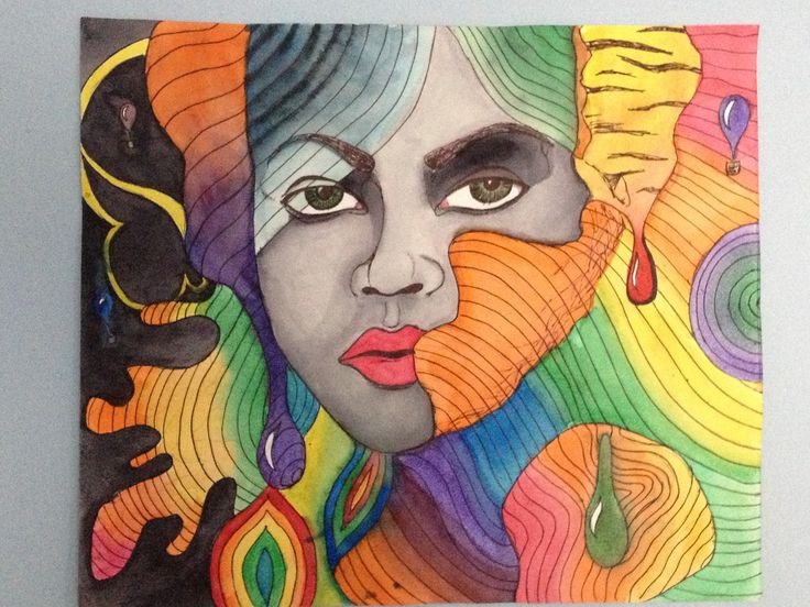 Water color Trippy Girl